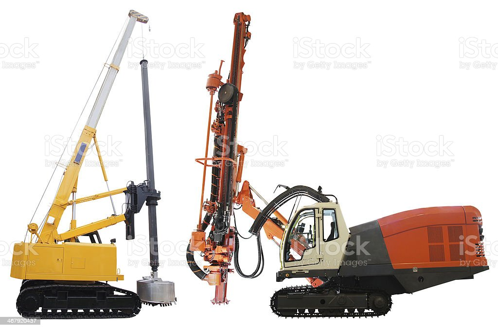 machine for drilling holes stock photo