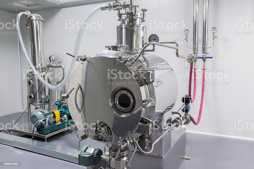 machine for the production of tablets and sorting stock photo