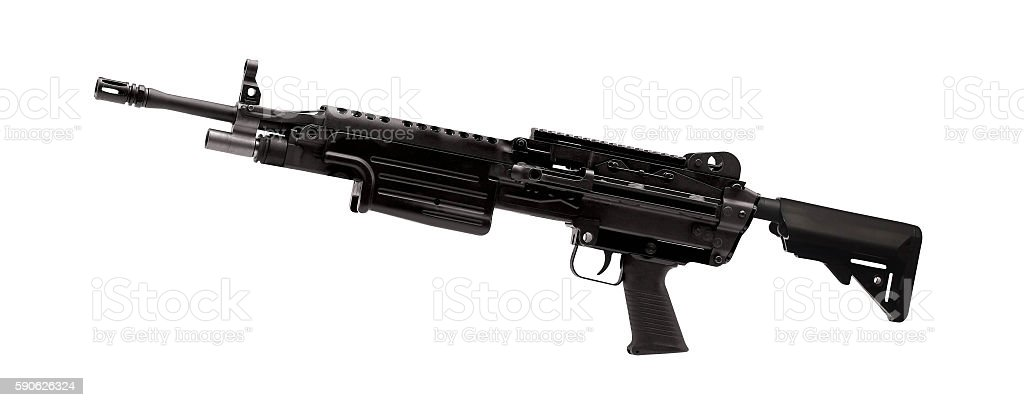 M60 machine gun isolated stock photo