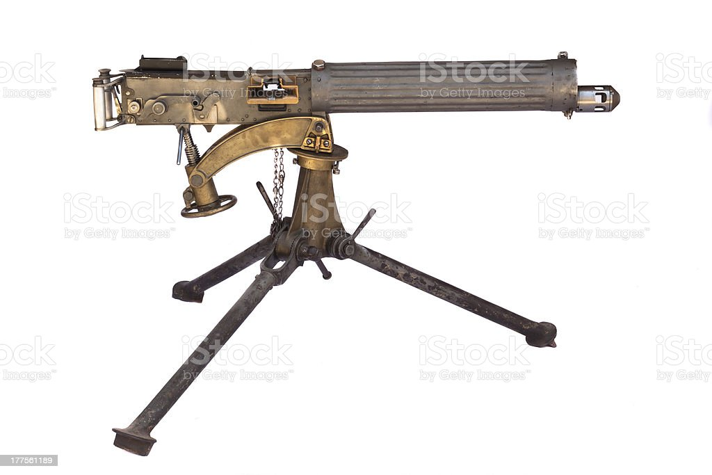 WWII Machine Gun stock photo