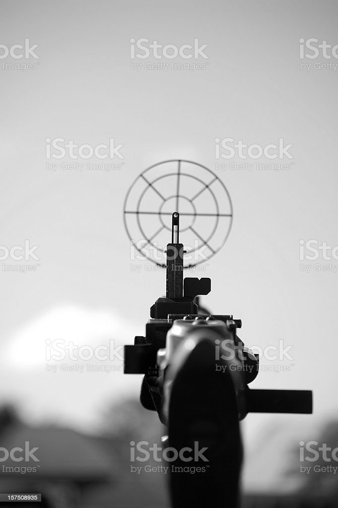 Machine Gun Sight. stock photo