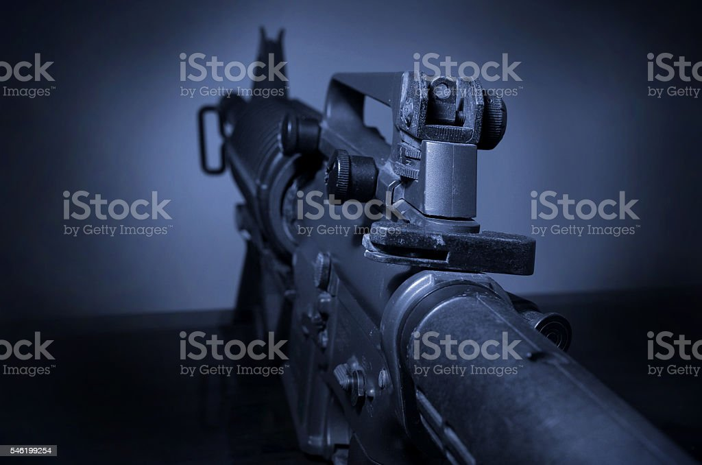machine gun weapon stock photo