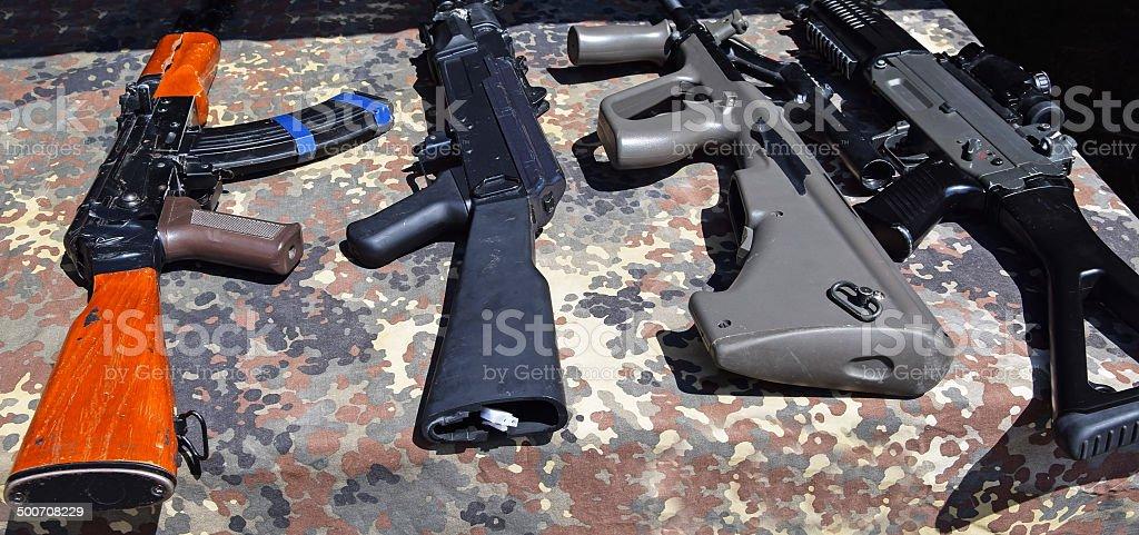 Machine guns stock photo