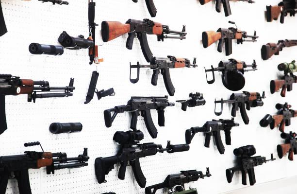 Machine guns Machine guns gun shop stock pictures, royalty-free photos & images