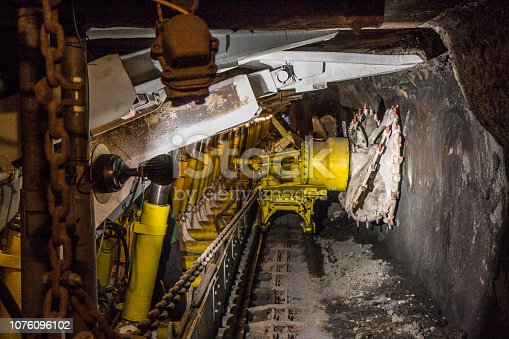 istock Machine in a coal mine. 1076096102