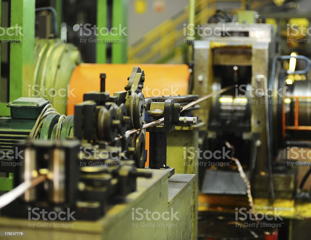 Machine in steel industry stock photo