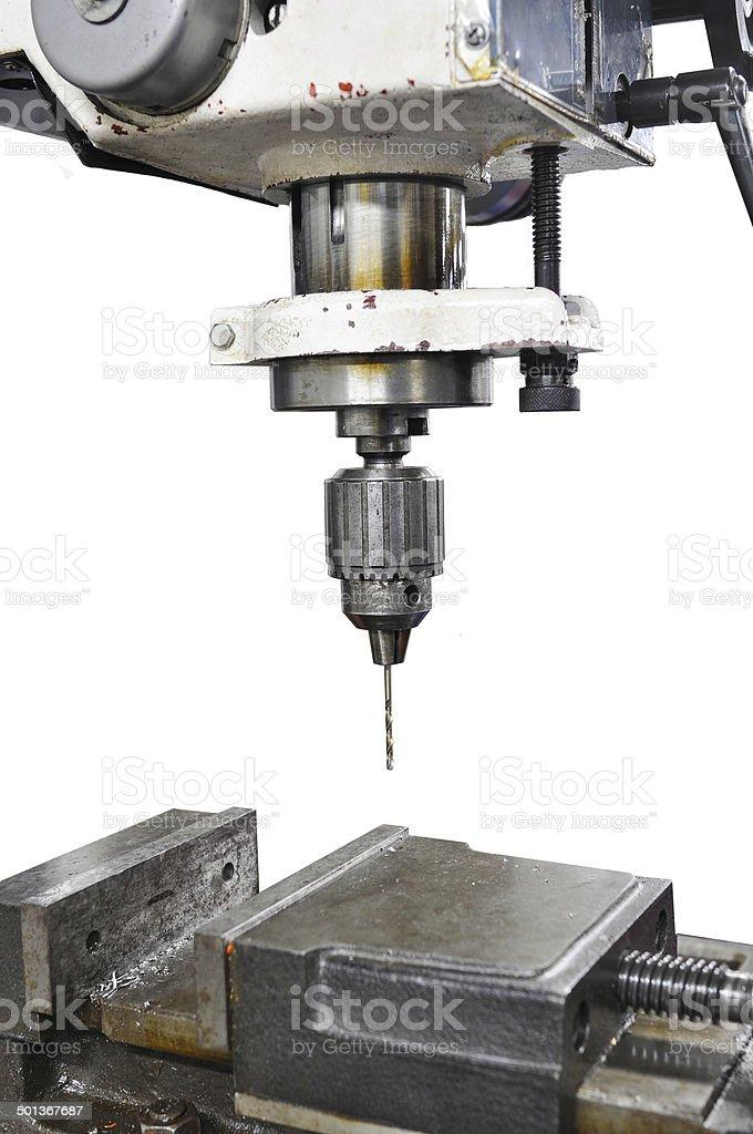 Machine Industrial in work shop stock photo