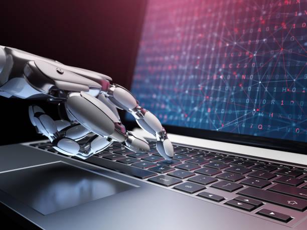 machine à apprendre une technique de concept et de l'intelligence artificielle. - chatbot photos et images de collection