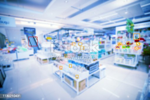 istock machine learning in department store to detect about unknow object 1130210431