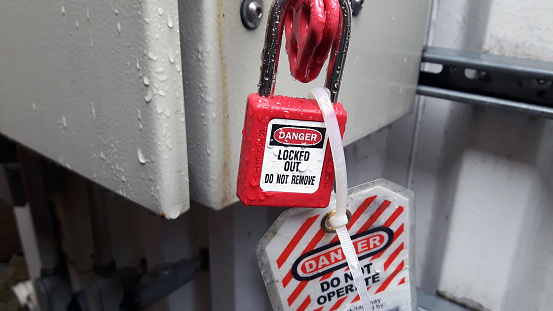 Lockout-tagout (LOTO) or lock and tag is a safety procedure which is used in industry and research settings to ensure that dangerous machines are properly shut off and not able to be started up again prior to the completion of maintenance or servicing work.