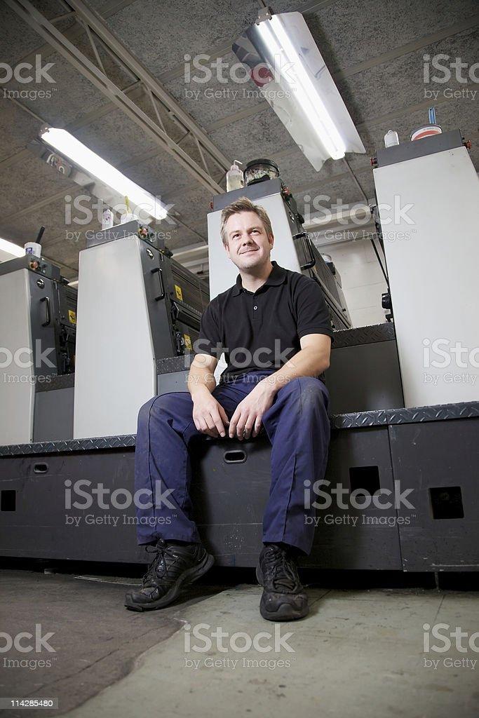 Machine Minder... stock photo