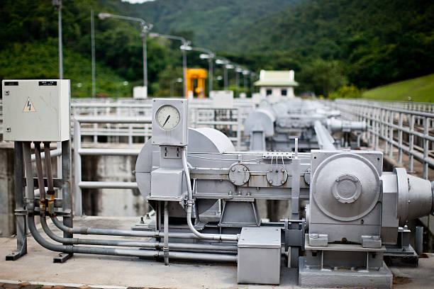 machine of electronic power control stock photo