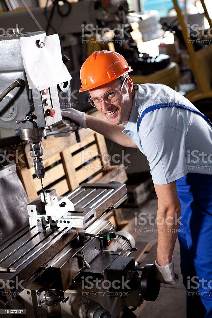 Machine Operator royalty-free stock photo