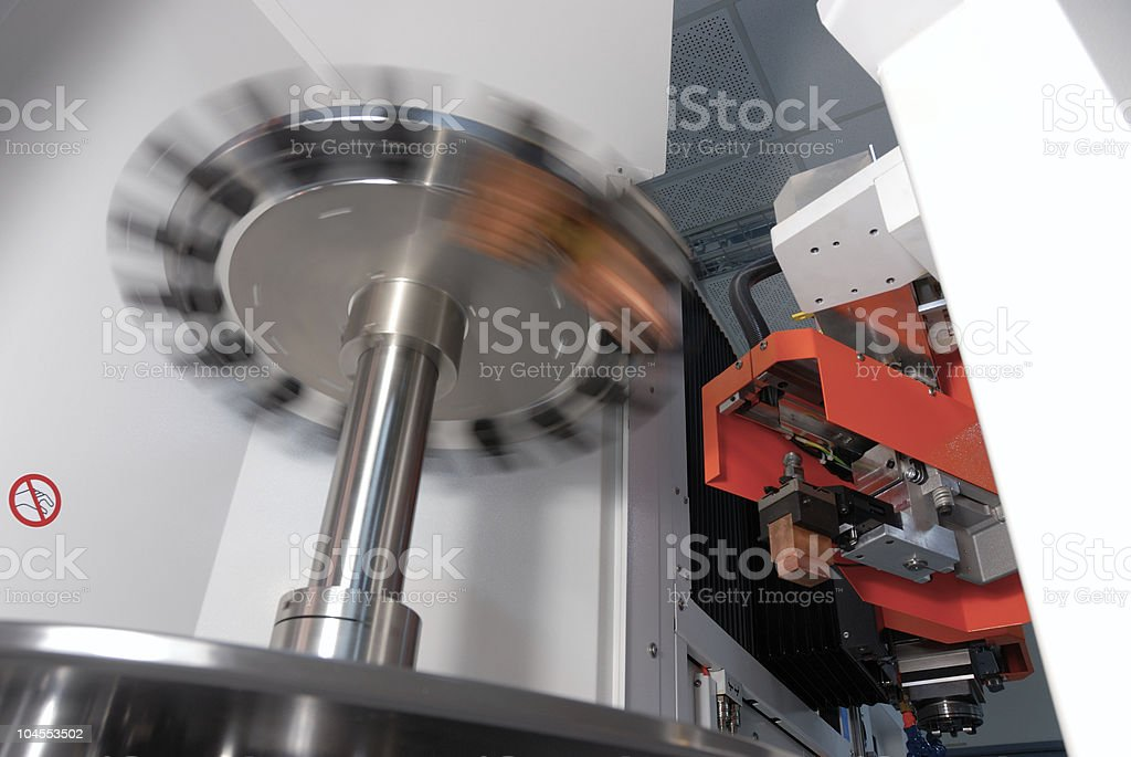 CNC machine royalty-free stock photo