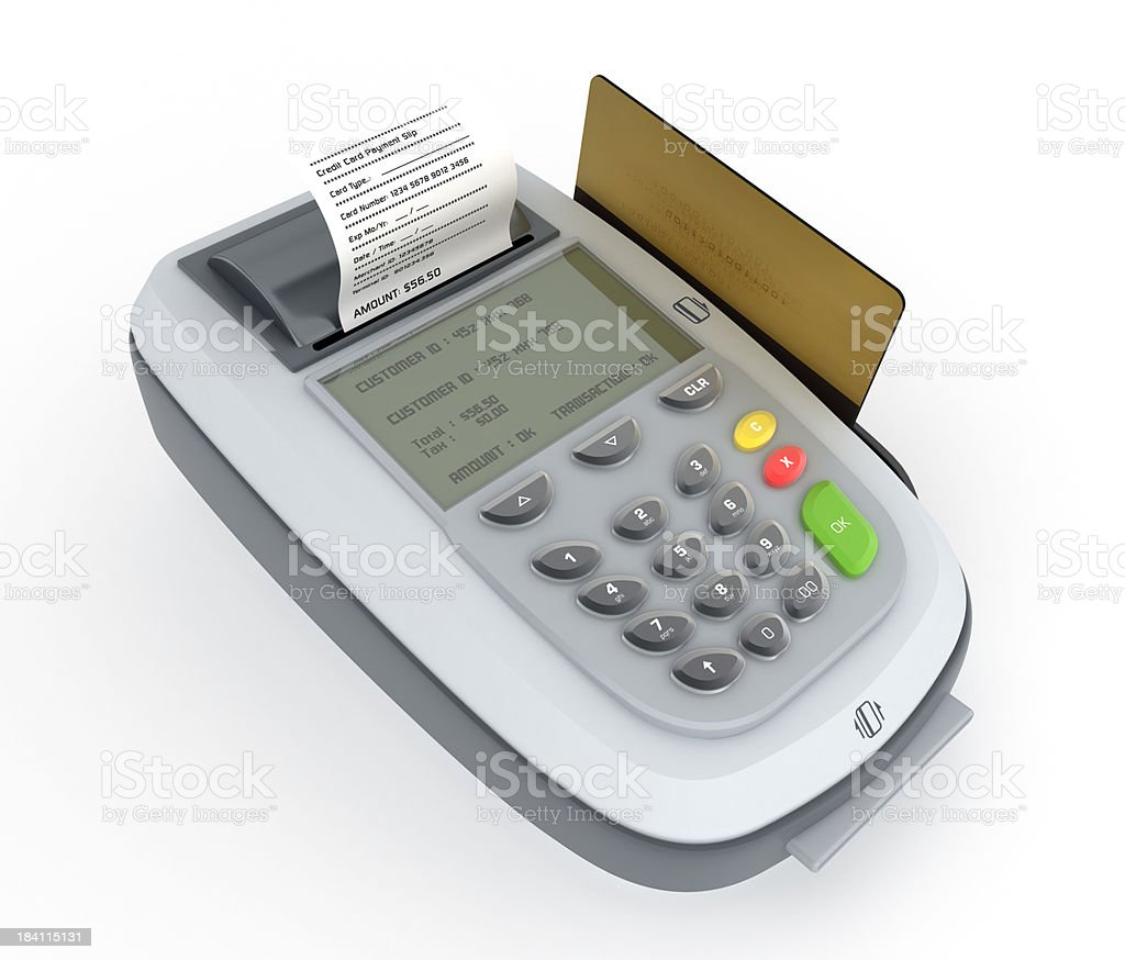 POS (Point of Sale) Machine royalty-free stock photo
