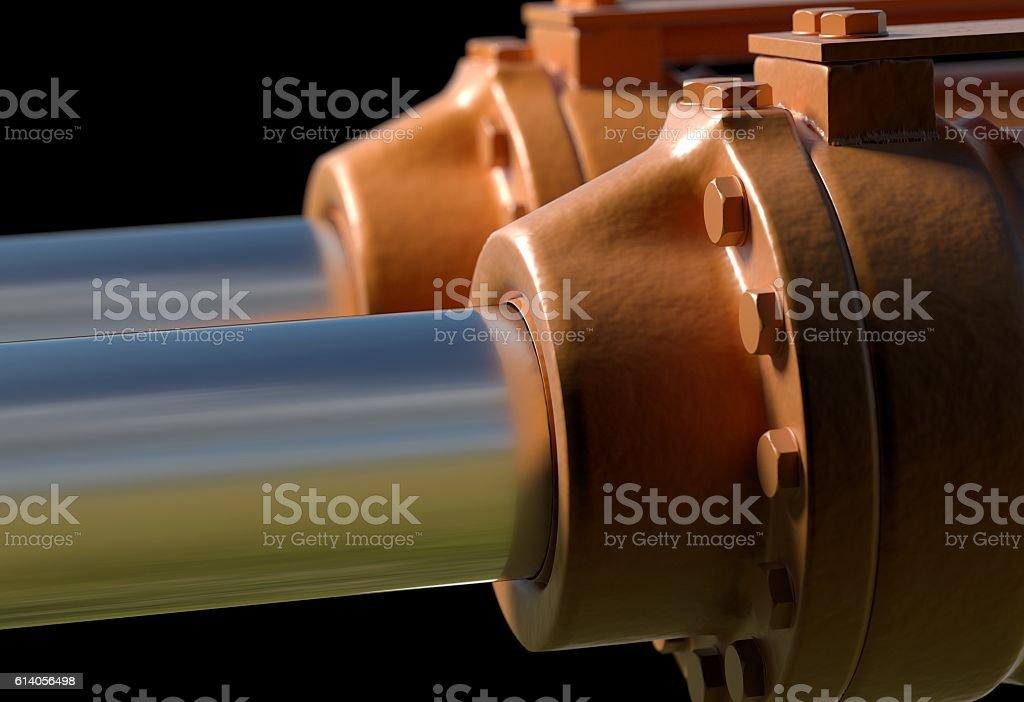 machine piston hydraulic system industrial 3d illustration stock photo