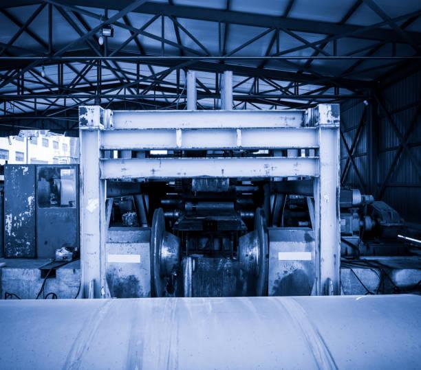 Machine rolling steel stock photo