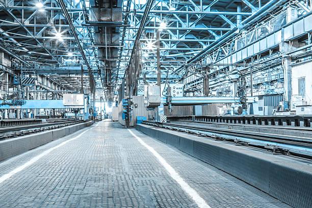 Maschine shop von metallurgical works – Foto