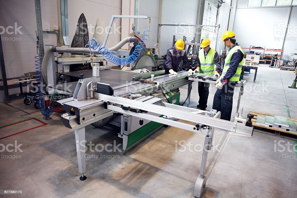 CNC machine shop stock photo