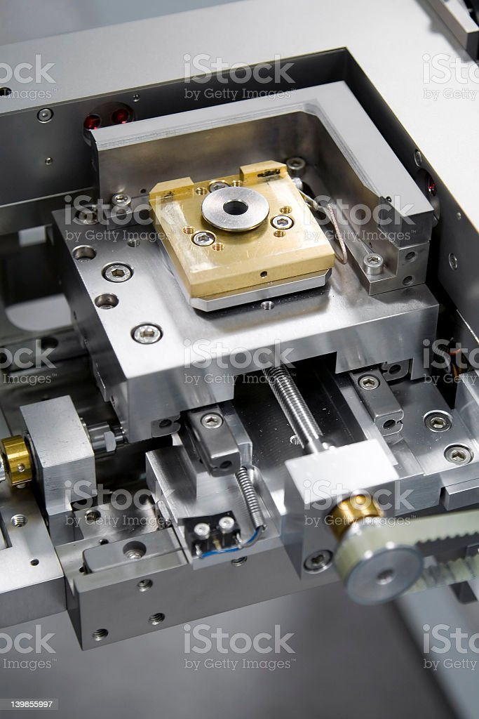 A machine that produces E-Beams stock photo