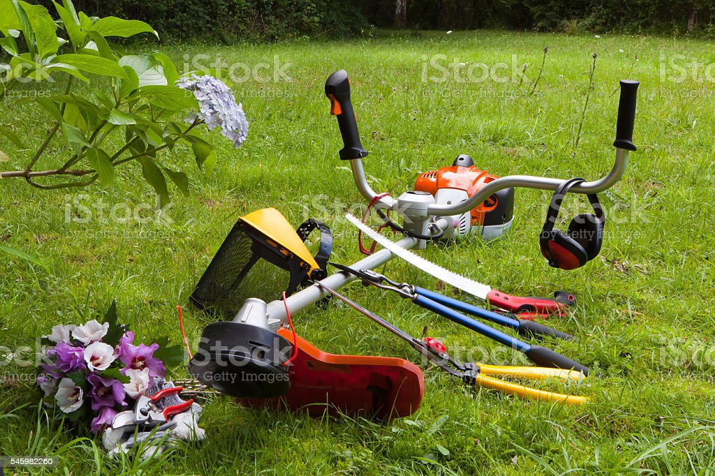 machine tool gardening stock photo