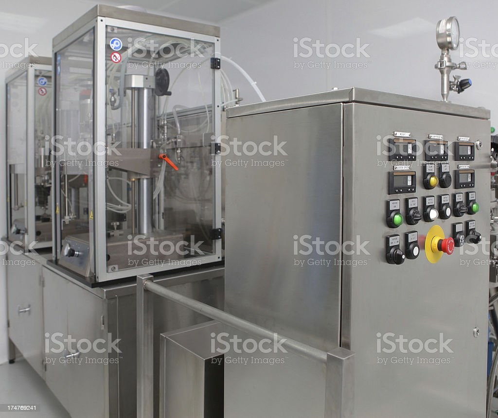 Machine Used For Pharmaceutical Industry stock photo
