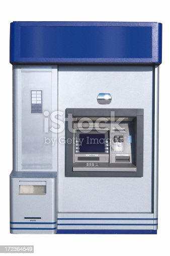 istock ATM machine with Clipping Path 172364549