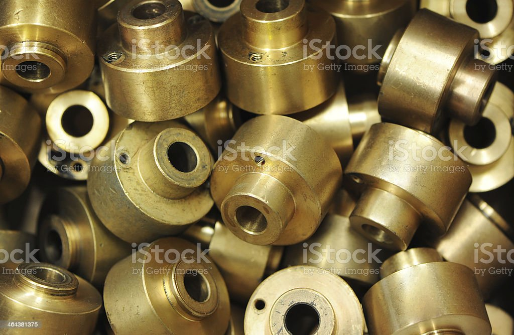 Machined Parts royalty-free stock photo