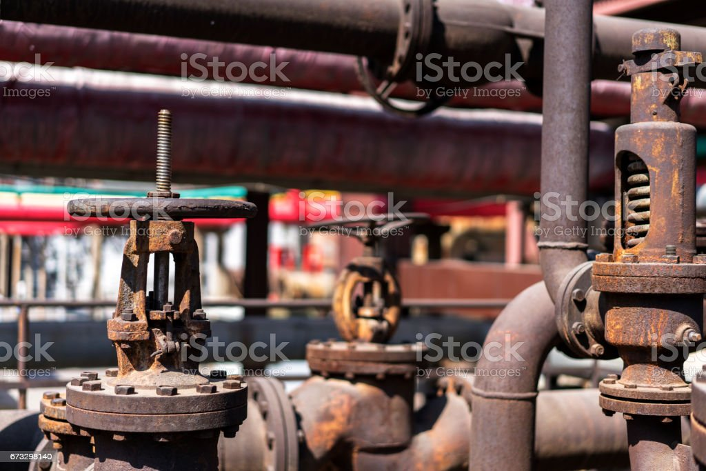 machinery and equipment in old factory royalty-free stock photo
