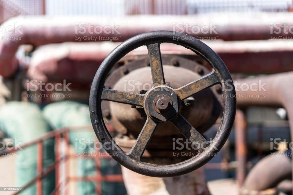 machinery and equipment in old factory stock photo