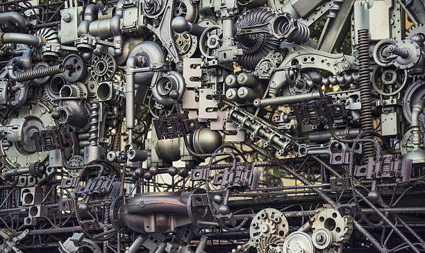 machinery background - steampunk stock photos and pictures