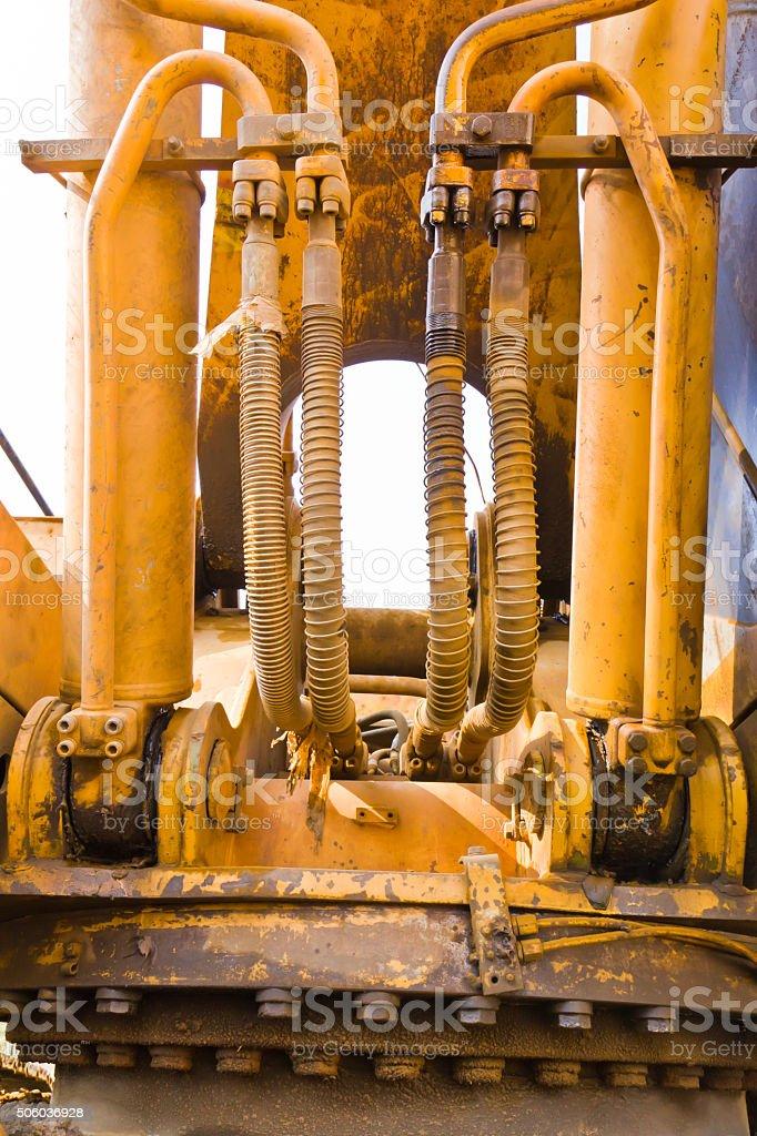 Machinery  bulldozer stock photo