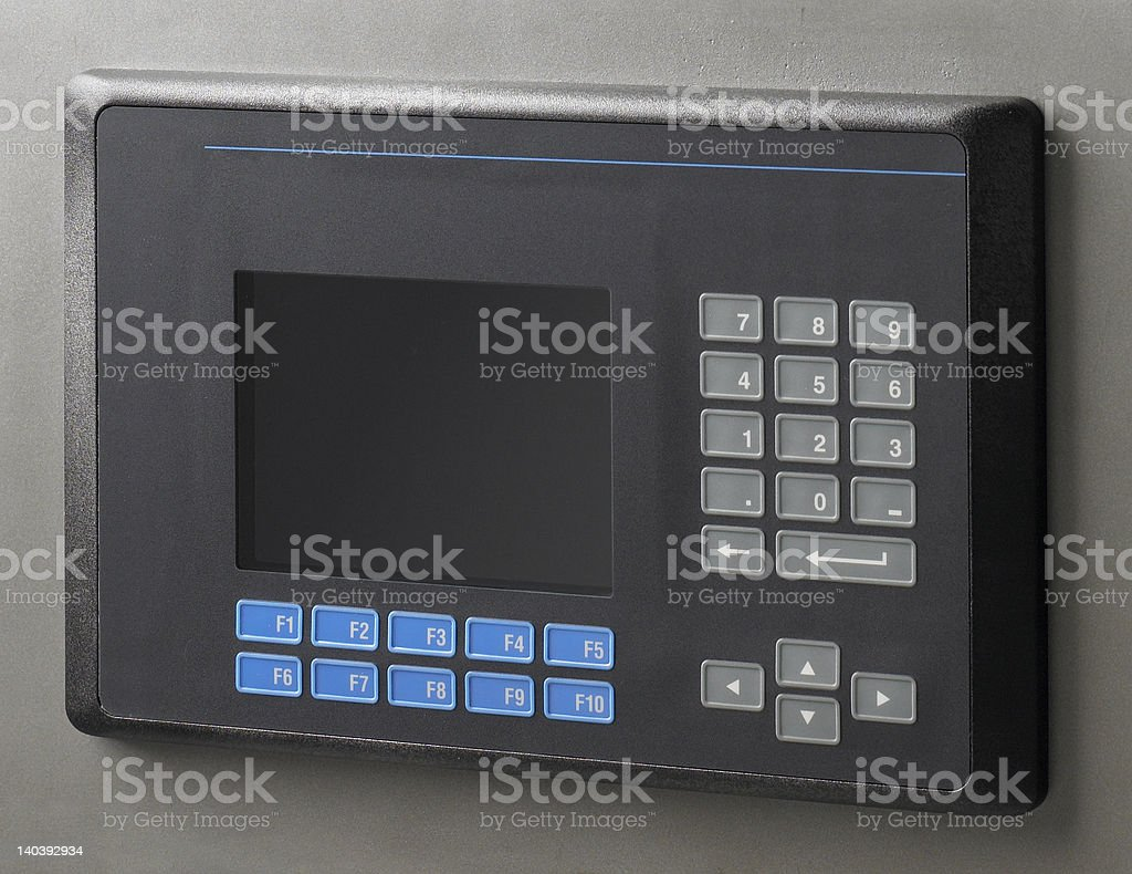 Machinery Control Panel royalty-free stock photo