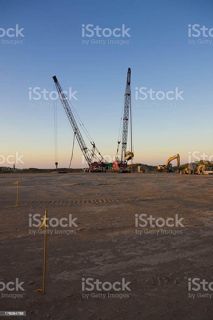 Machinery on the building yard royalty-free stock photo