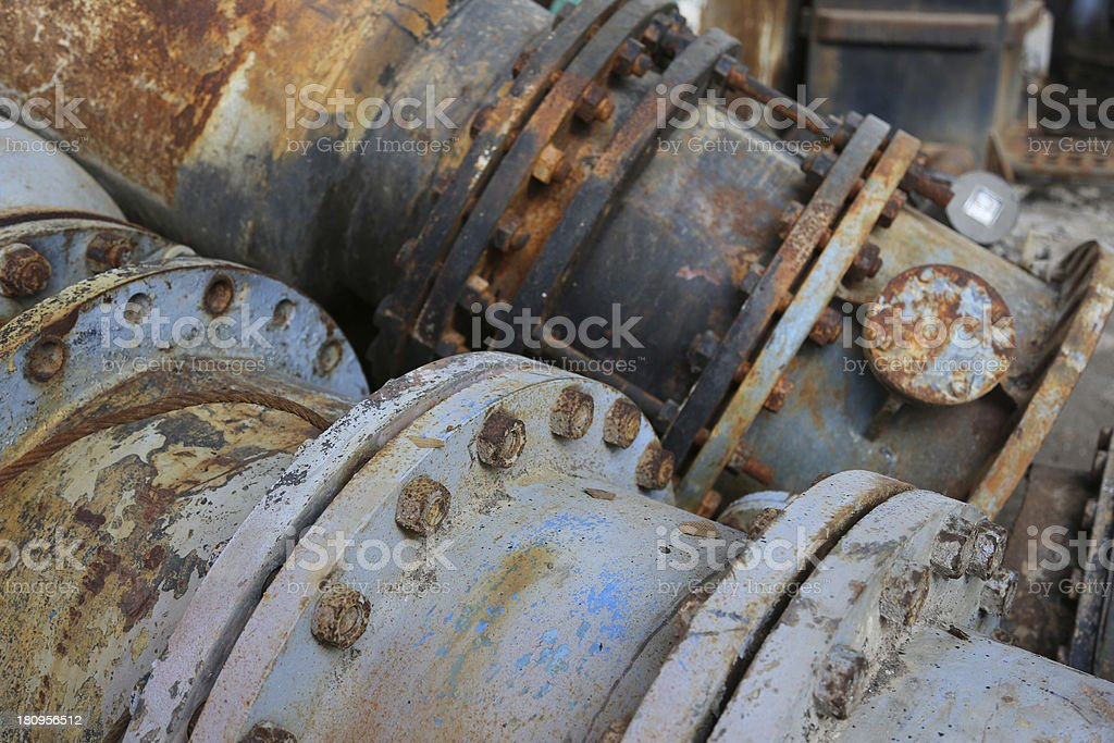 Machinery parts from old factory royalty-free stock photo