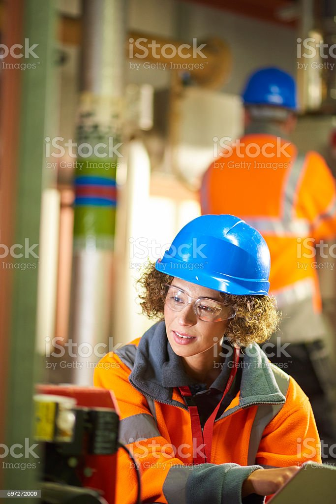 Machinery safety checks royalty-free stock photo