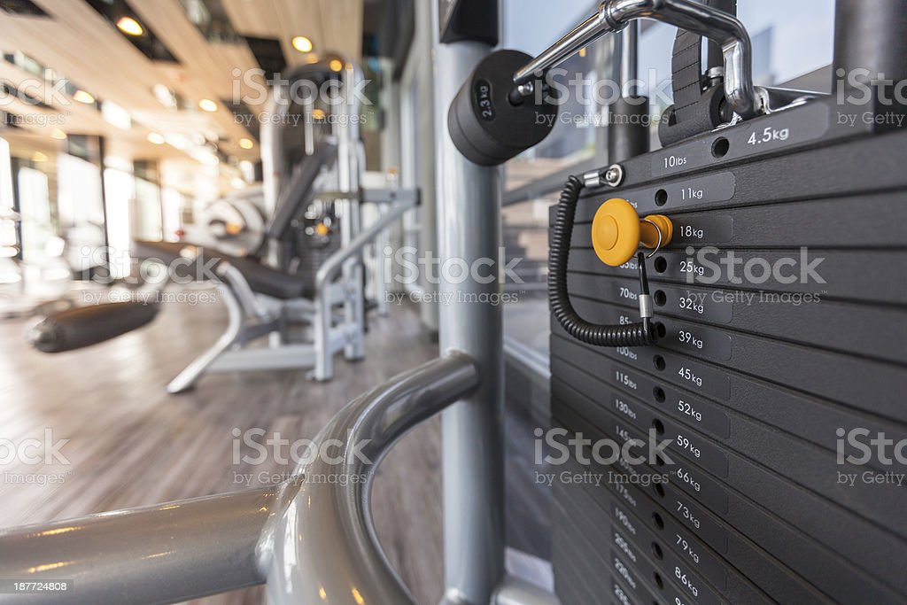 machines at the gym room stock photo