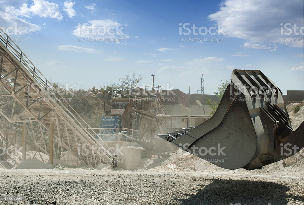 Machines for rock fragmentation royalty-free stock photo