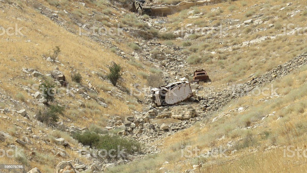 machines the bottom of the ravine in golan royalty-free stock photo