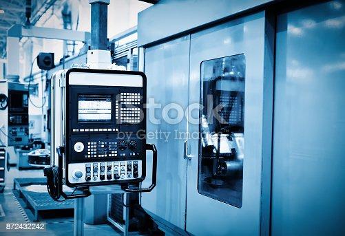 istock Machining centre combination machinery in work shopq in chongqing,china 872432242