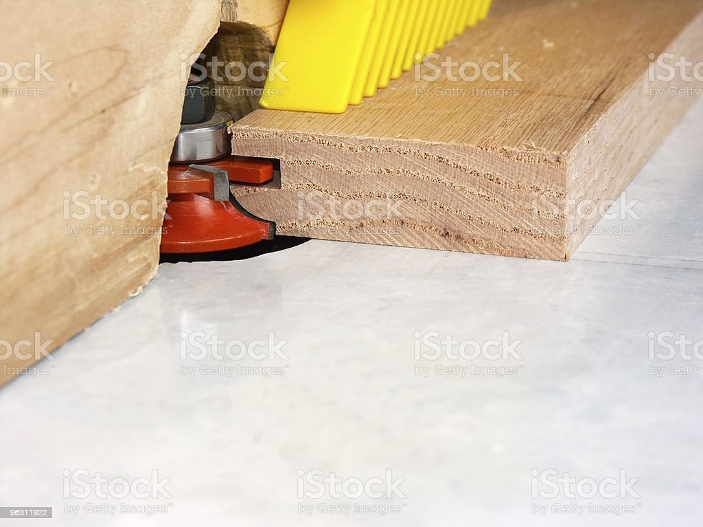 Machining Door Parts royalty-free stock photo
