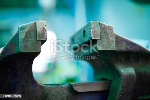 Close-up of vise grip
