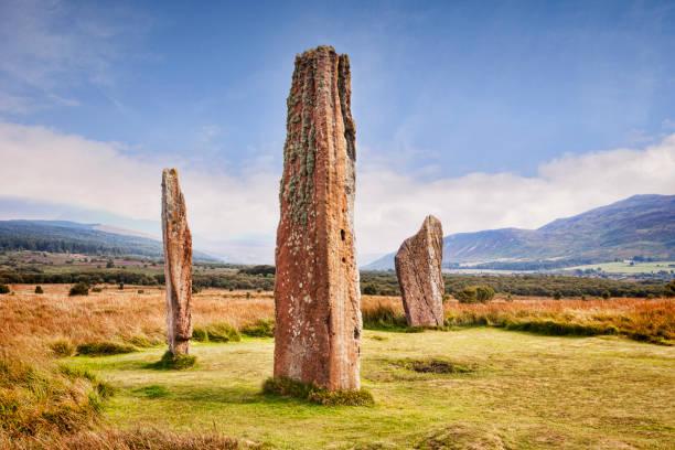 Machrie Moor Arran Scotland UK stock photo