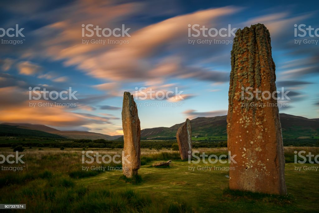 Machrie Moor Megalith stock photo