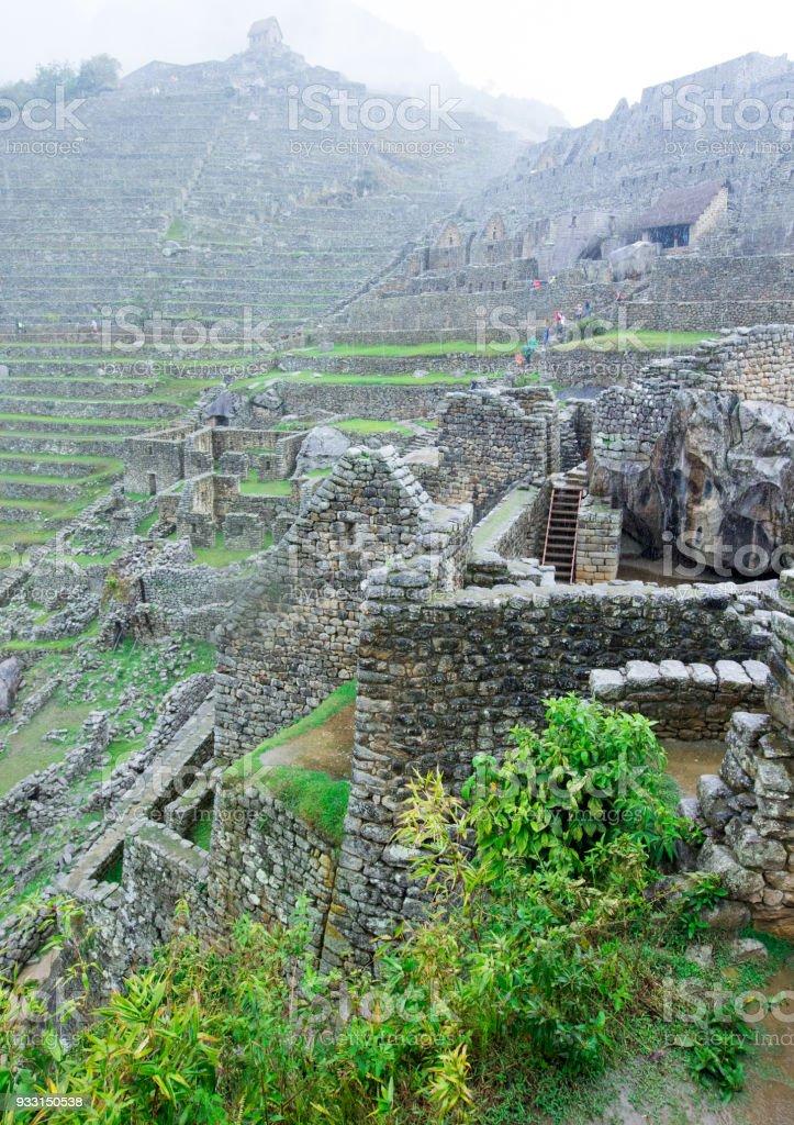 Machu Picchu, a UNESCO World Heritage Site stock photo