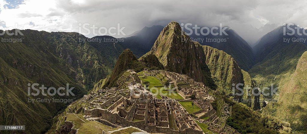 Machu Picchu and Surroundings Panorama royalty-free stock photo