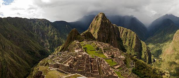 Machu Picchu and Surroundings Panorama stock photo