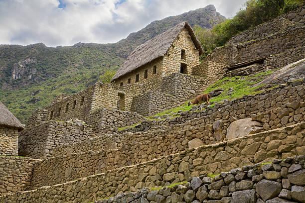マチュピチュゲートハウス - インカ ストックフォトと画像