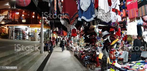 Machu Picchu Gift And Souvenir On Display For Sale View In Cusco Peru. South America