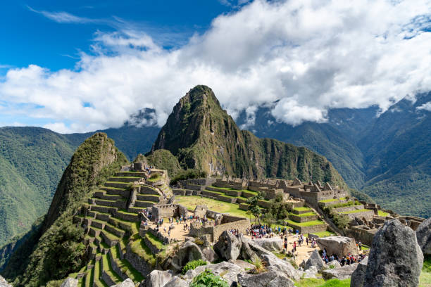 machu picchu in peru - empire stock pictures, royalty-free photos & images